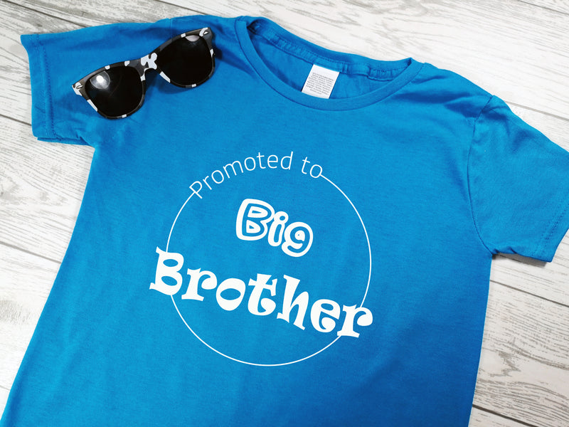 Custom Kids BLUE promoted to big brother t-shirt
