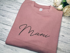 Personalised Unisex DUSKY PINK jumper with name detail