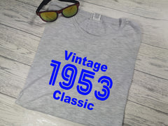 Personalised Men's Vintage year Grey T-shirt