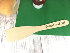 Personalised Engraved Wooden Spatula Head Chef Dad Grandad Mum Grandma Any name