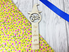 Personalised Wooden Wizard hat Bookmark Any Name Any Message