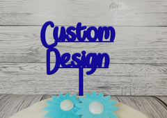 Personalised wooden cake topper Custom design Any Image or design  Glitter Painted