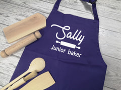 Personalised children's Junior Baker Purple apron