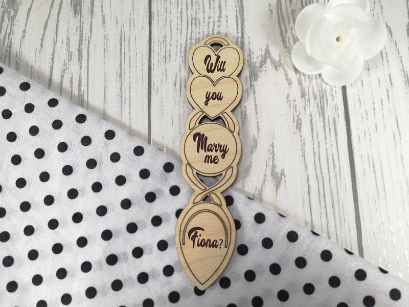 Personalised Engraved Wedding Will you Marry me? Love spoon Choice of size