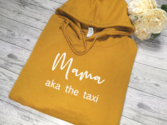 Personalised Women's Mustard hoodie with Name aka the boss