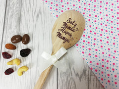 Personalised Engraved  Welsh Mother's day Wooden Spoon Any name