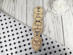 Personalised Engraved Wedding Welsh Save the date Love spoon