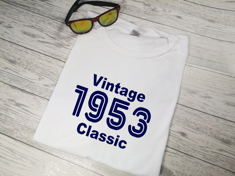 Personalised Men's Vintage year White T-shirt