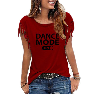 2019 Summer dance mode on Letters Print Women tshirt Cotton Casual Funny t shirt For Lady Girl Top Tee Hipster