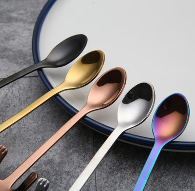 4pcs Stainless Steel Mini Cat Kitten Spoons for Coffee Tea Dessert