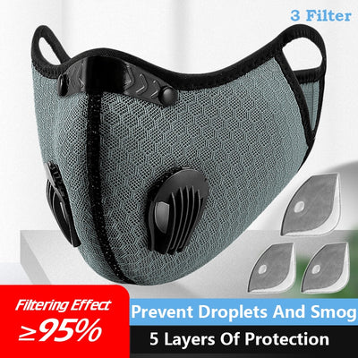 Face Mask  Dust Filter Sports Running Reusable Anti-Pollution Mask