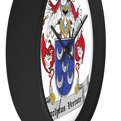 Pinto Family Coat of Arms Wall clock