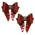 Marrs Makers Python Leather Bows