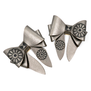 Marrs Makers Surrealistic Concho Leather Bows - Metallic