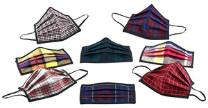 Marrs Makers Face Masks 'The Comeback'. 'Holiday Swagger' in Brooks Brothers repurposed plaid fabric. Blackwatch Plaid, Lindsay Tartan, Herringbone Twill, District Check, Royal Stewart Plaids.  M20-M008 CMBKFH.