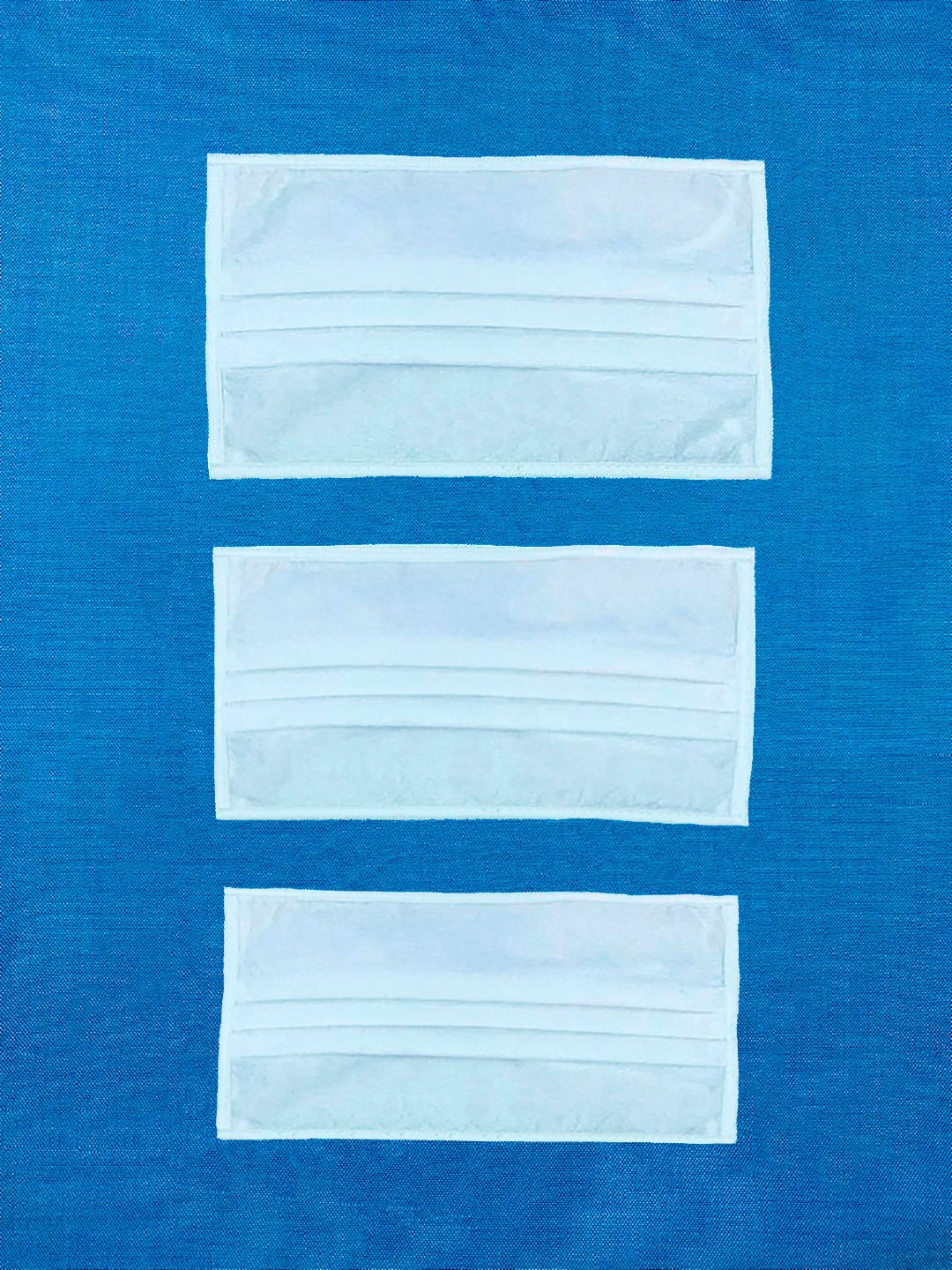 Non-Woven High Filtration Pleated Face Mask - White with White Binding Edges. Large, Medium, Small Sizes.
