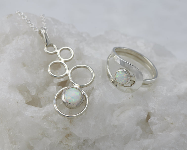 opal necklace and matching opal ring