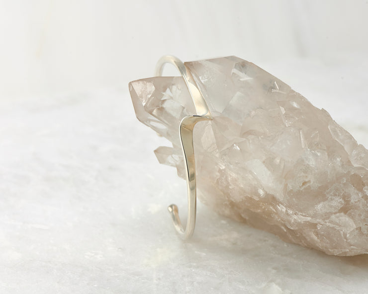 cuff bracelet shown on crystal rock