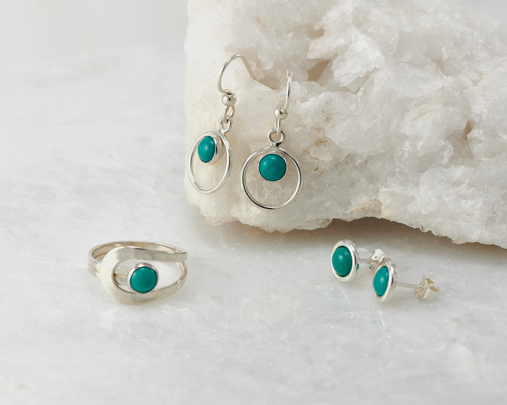 Turquoise Silver Wrap Ring