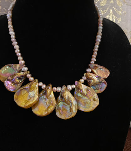 Golden Abalone Necklace