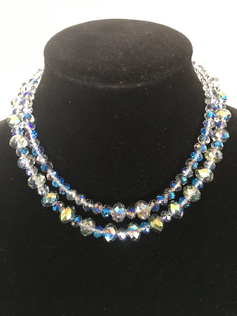 Double Strand Medium Crystal Necklace
