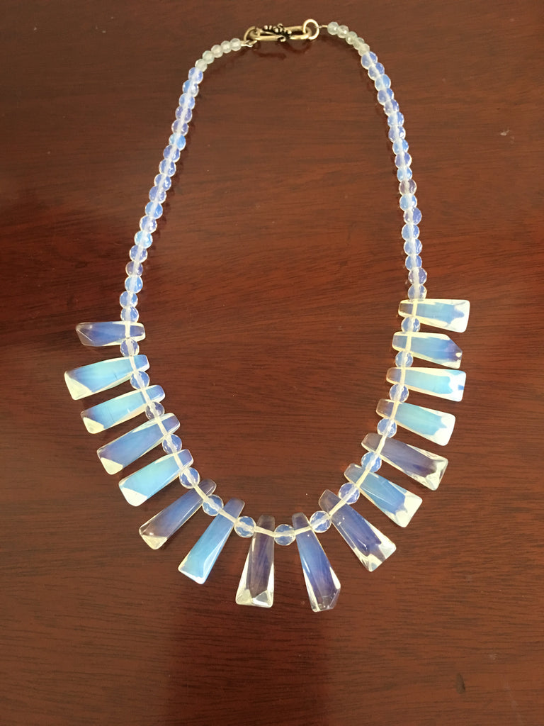 Opalite Necklace with Silver-toned Clasp.