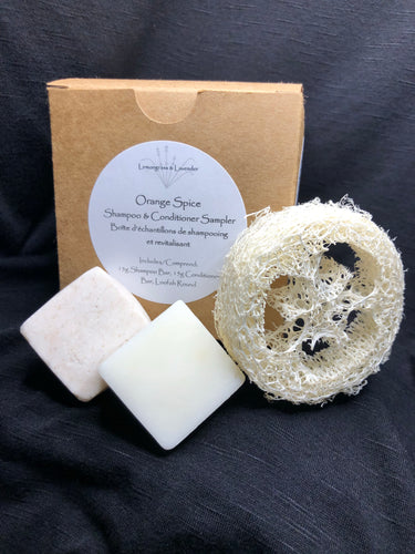 Sample Pack - Orange Spice Shampoo & Conditioner Bars