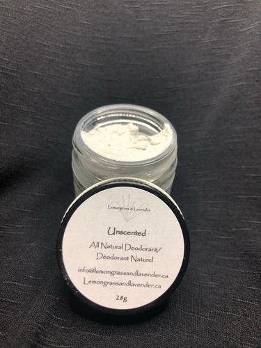 All Natural Deodorant - Unscented