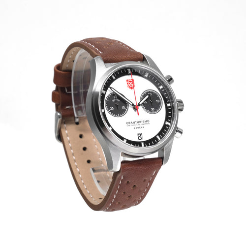 Gran Turismo Watch White/Leather