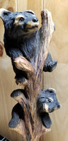Chainsaw Carved Bears in Tree