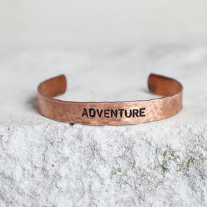 'Adventure' Copper Cuff