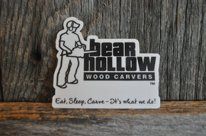 Bear Hollow Woodcarvers Circle Sticker