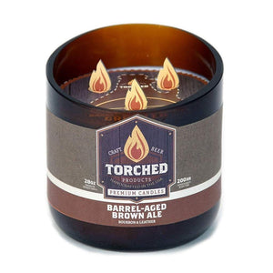 Torched Growler Beer Candle