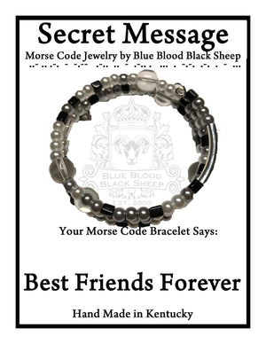 """Best Friends Forever"" Morse Code Bracelet"