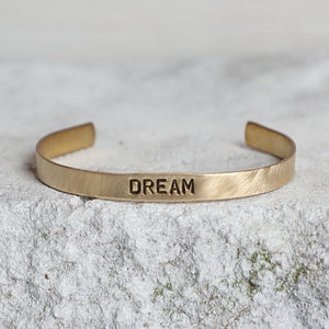 'Dream' Brass Cuff