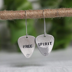 Aluminum Guitar Pick Earrings