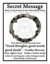 """Good thoughts, good words, good deeds"" Freddie Mercury Morse Code Bracelet"