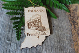 French Lick Indiana Train Ornament