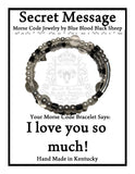 """I love you so much!"" Morse Code Bracelet"