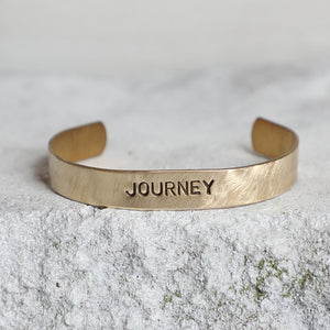 'Journey' Brass Cuff