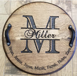 Custom Bourbon Barrel Serving Tray or Lazy Susan