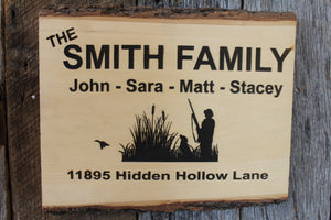 'Duck Hunting Silhouette' Custom Sign