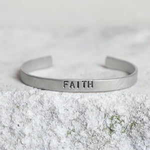 'Faith' Aluminum Cuff