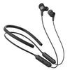 Black Epic Executive Wireless Earbuds Showing Optional Neckband, and Cush Fins