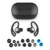 Zwart Epic Air Sport True Wireless Oordopjes in oplaadhoes met oplaadkabel en maten oordopjes