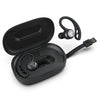 Black Epic Air Sport True Wireless Hörlurar i laddningsfodral Visar integrerad laddningskabel