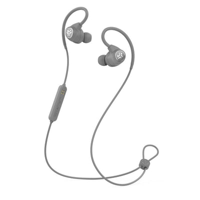 Gray Epic Sport Wireless Earbuds with Microphone and Cable