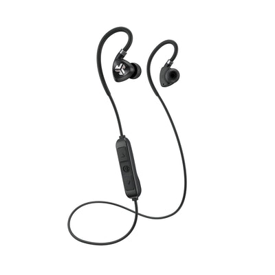 Zwart Fit Sport 2.0 Wireless Fitness Earbuds met kabel en microfoon