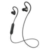 Negro Fit Sport 2.0 Wireless Fitness Earbuds con cable y micrófono