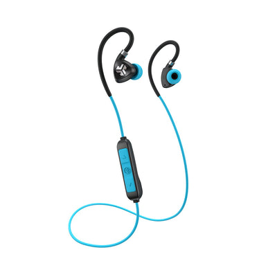 Sort og blå Fit Sport 2.0 Wireless Fitness Earbuds med kabel og mikrofon